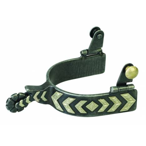 Weaver Mens German Silver Chevron Trim Spur
