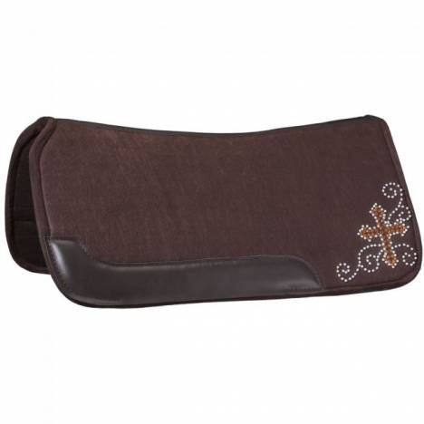 "Tough 1 Contour Felt 3/4"" Saddle Pad - Crystal Cross Design"