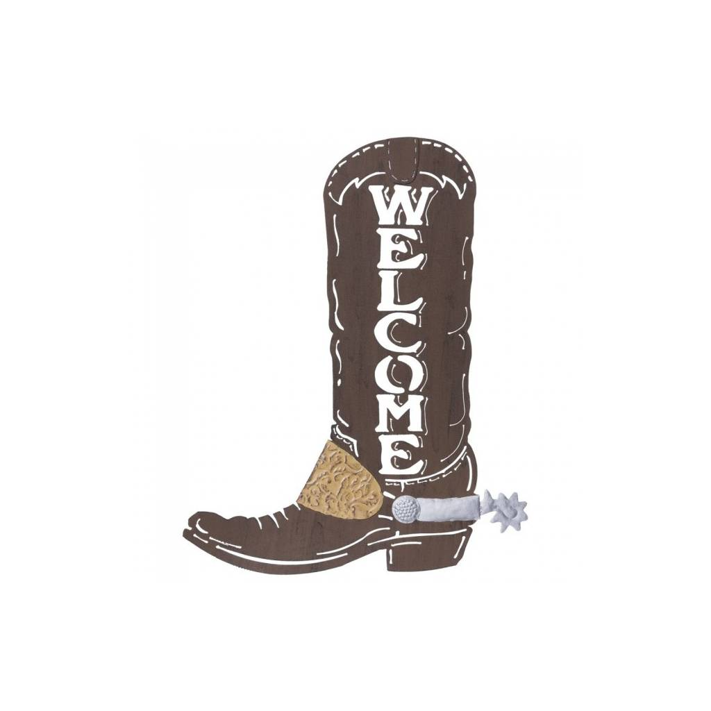Tough-1 Cowboy Boot Welcome Sign