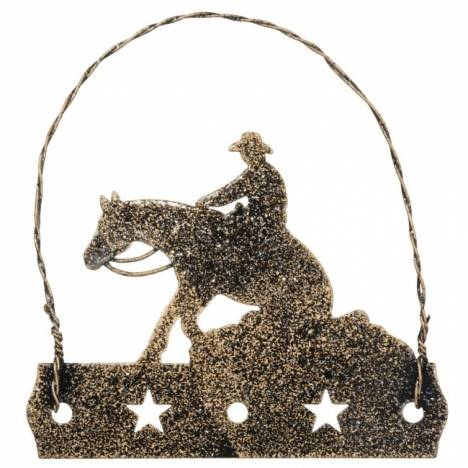 Tough-1 Equine Motif Ornament With Glitter Finish - Reiner