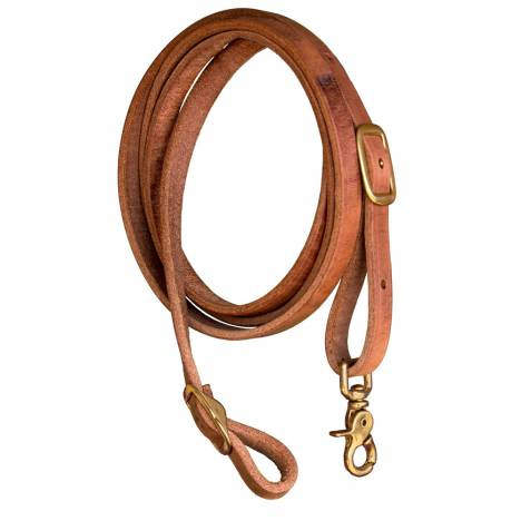 Shenandoah Flat Leather Roping Reins Harness Leather 5/8