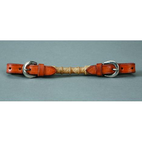 Colorado Saddlery Curb Strap With Rawhide Overlay