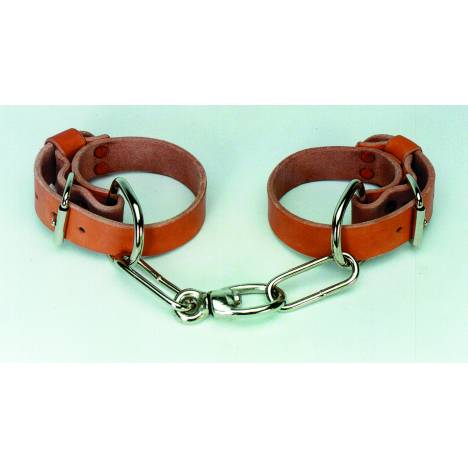 Colorado Saddlery Leather Chain Hobbles