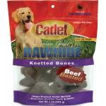 Cadet Rawhide Knotted Bone Value Pack - Beef