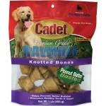 Cadet Rawhide Knotted Bone Value Pack - Peanut Butter