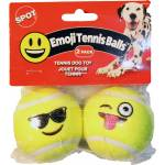 Ethical Dog Emoji Tennis Ball - 2 Pack