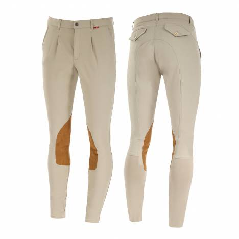 B Vertigo Sander Mens Faux Leather Knee Patch Breeches
