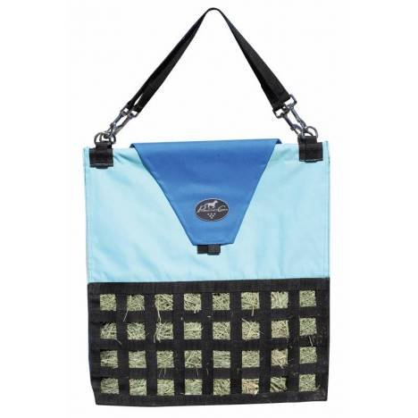 Professionals Choice Slow Feed Hay Bag - Colorblock Turquoise Royal