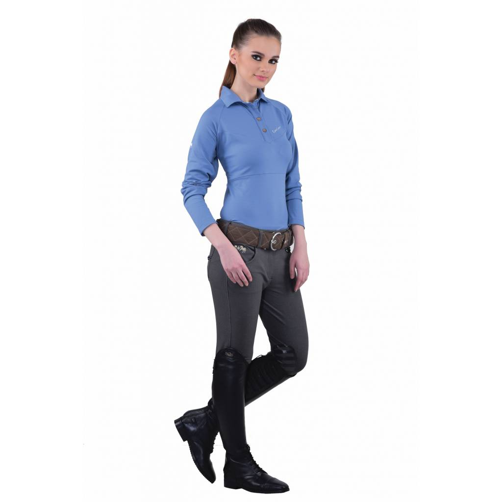 Equine Couture Ladies Performance Long Sleeve Polo Shirt