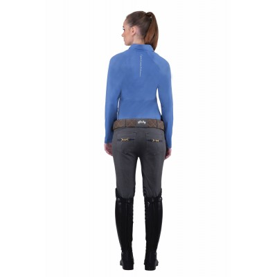Equine Couture Ladies Sophie Knee Patch Breeches - Charcoal - 36