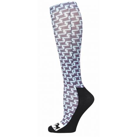 Equine Couture Ladies Geo Padded Boot Socks