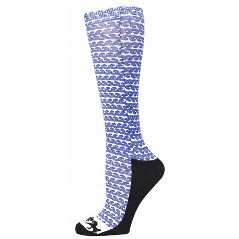 Equine Couture Ladies Wave Padded Boot Socks