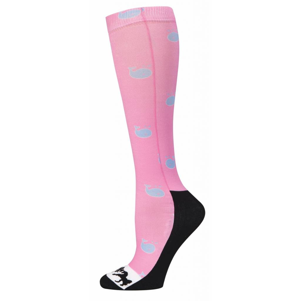 Equine Couture Ladies Whales Half Padded Boot Socks