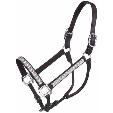 Silver Royal Crystal Chevron Show Halter with Lead