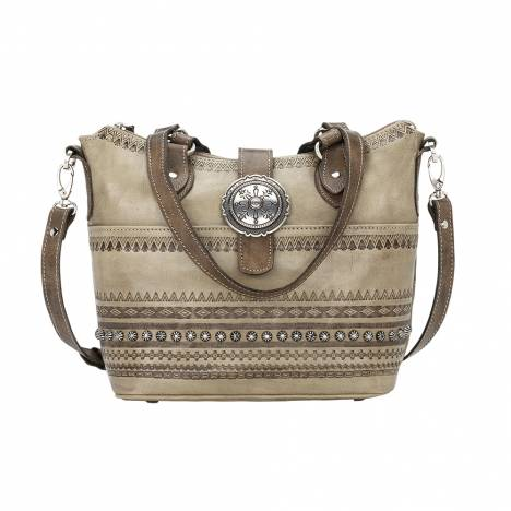 American West Trading Post Convertible Zip Top Bucket Tote