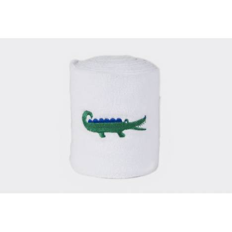 Lettia Embroidered Green Alligator Polo Wraps