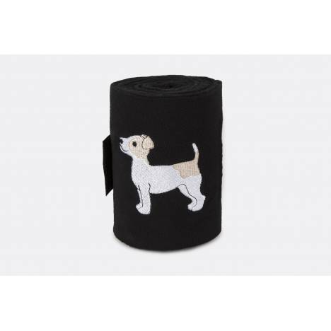 Lettia Embroidered Polo Wraps - Jack Russell