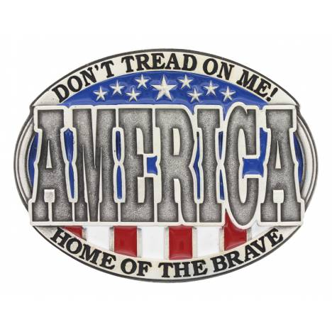 Montana Silversmiths America Home Of The Brave Attitude Buckle