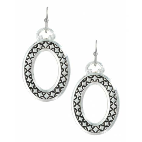 Montana Silversmiths Simply Stitched Oval Earrings