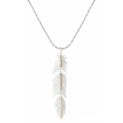 Montana Silversmiths Rose Gold Plume Feather Necklace