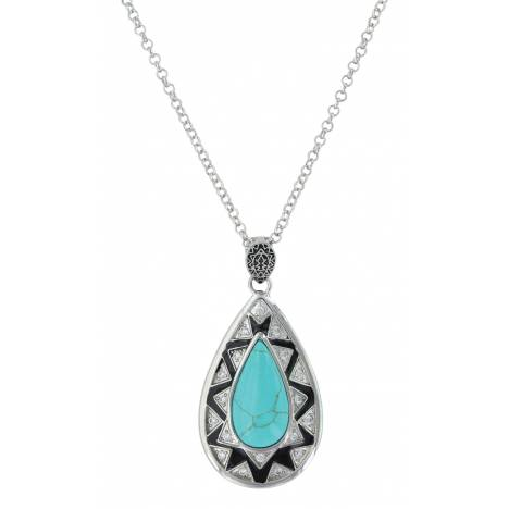Montana Silversmiths Southern Chevron Teardrop Necklace