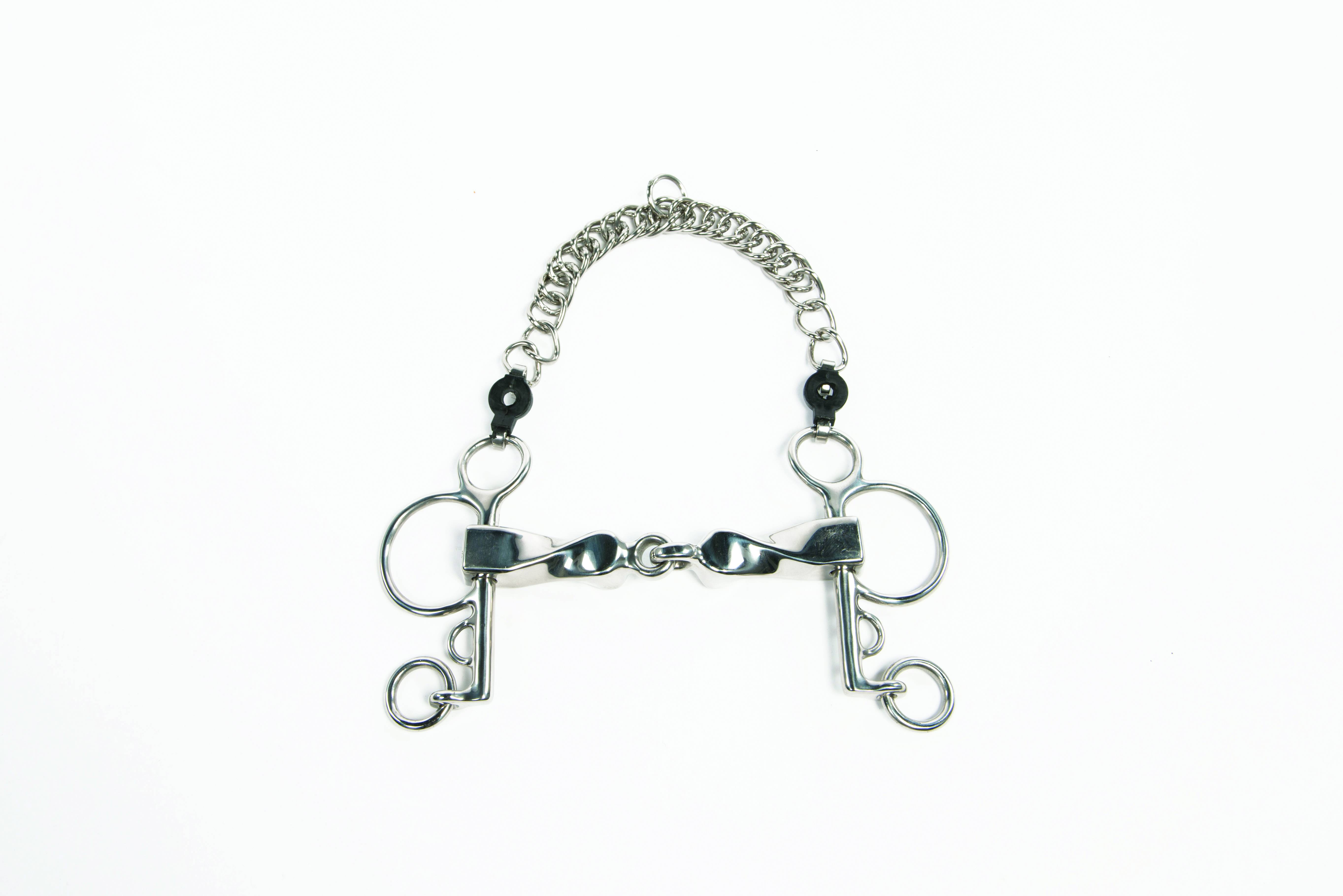 """Metalab Chrome Plated Stainless Steel Snaffle Bit Keychain 4 1//2/"""""""