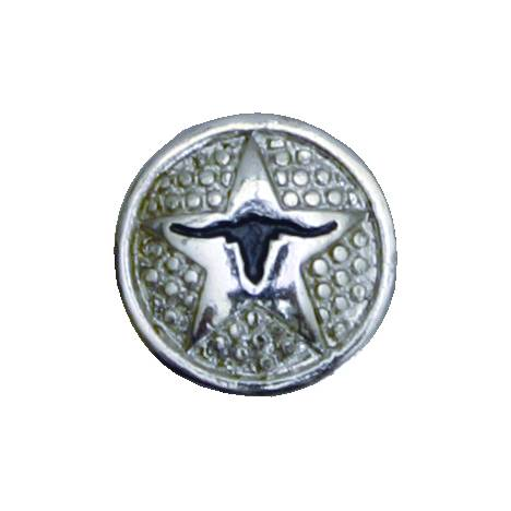 Action Longhorn Concho with Chicago Screw Back