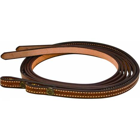 Simco Barb Wire Conchos Tooled Split Reins
