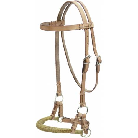 Billy Cook Saddlery Side Pull with Natural Rawhide Noseband