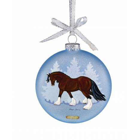 Breyer Artist Signature Ornament - Draft Horses by Sheryl Leisure