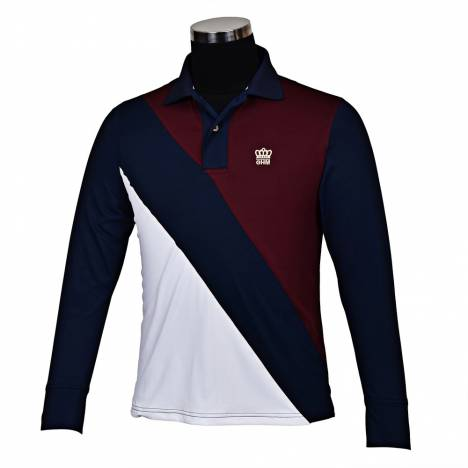George Morris Mens Pro Sport Long Sleeve Polo Shirt