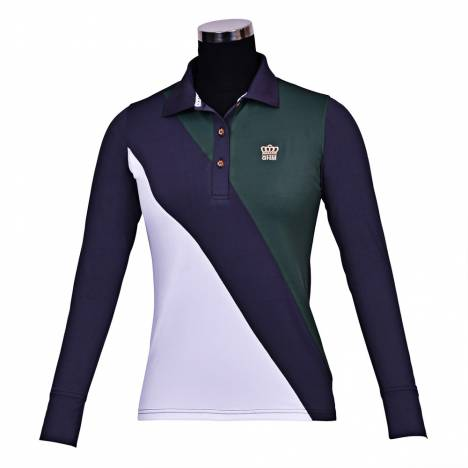 George Morris Ladies Pro Sport Long Sleeve Polo Shirt