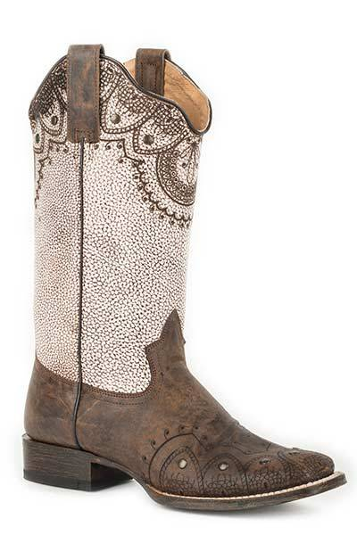 Roper Ladies Lacey Mae Fashion Square Toe Cowgirl Boots