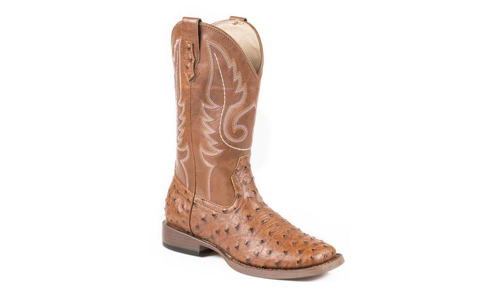 dc761312091 Roper Ladies Leopard Wide Square Toe Faux Leather Cowgirl Boots