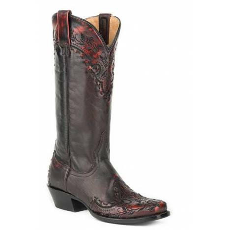 Roper Ladies Mercie Medium Square Toe Fashion Cowgirl Boots