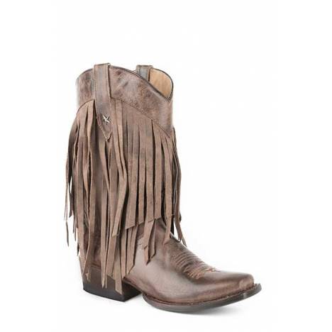 Roper Ladies Tall Fringe Medium Square Toe Fashion Cowgirl Boots