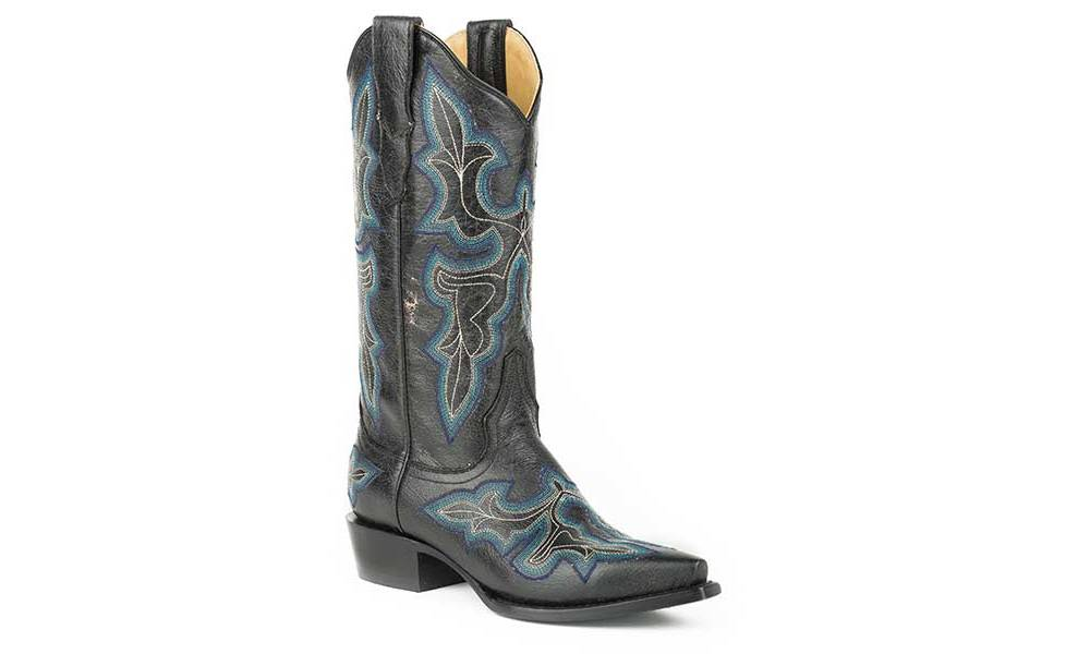 b014c1c71c0 Stetson Ladies Blake Crackle Fashion Snip Toe Cowgirl Boots