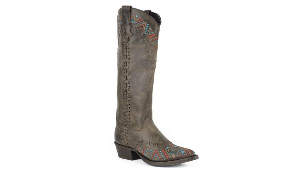 9f719246b4d Stetson Ladies Doli High Top Snip Toe Fashion Cowgirl Boots