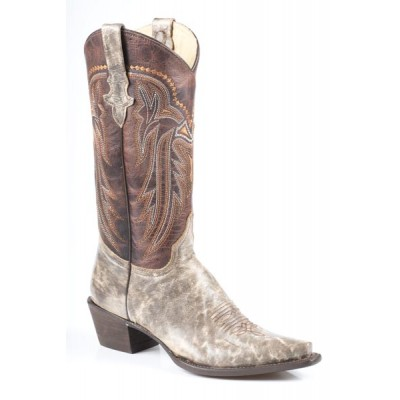 711cf0fae01 Stetson Ladies Falcon Marbled Snip Toe Fashion Cowgirl Boots
