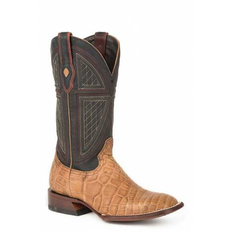 Stetson Mens Flaxville Exotic Gator Square Toe Cowboy Boots
