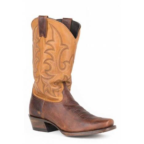 Stetson Mens Floppy Top Medium Square Toe Cowboy Boots
