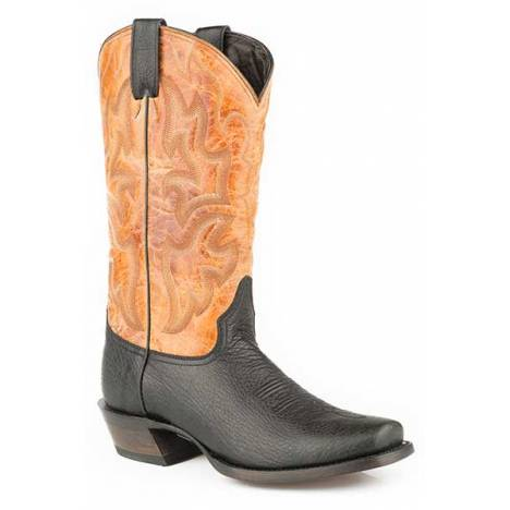 Stetson Mens Summer Reign Medium Square Toe Cowboy Boots