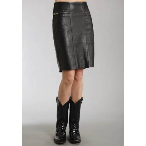 Stetson Ladies Fall III Smooth Leather Skirt With Thick Zippers