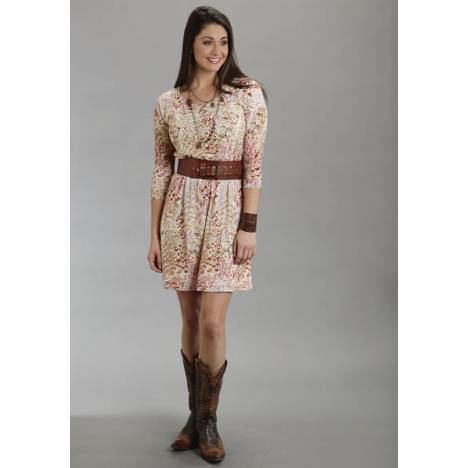 Stetson Ladies Fall/Winter I Feather Printed Burnout Dress
