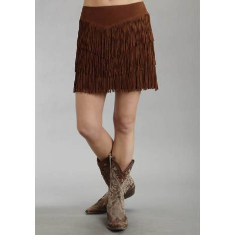 Stetson Ladies Fall/Winter I Mid Length Fringe Suede Skirt