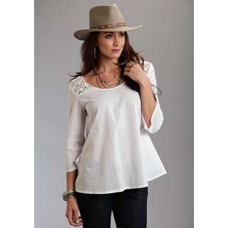 Stetson Ladies Spring I Solid Voile Peasant Top