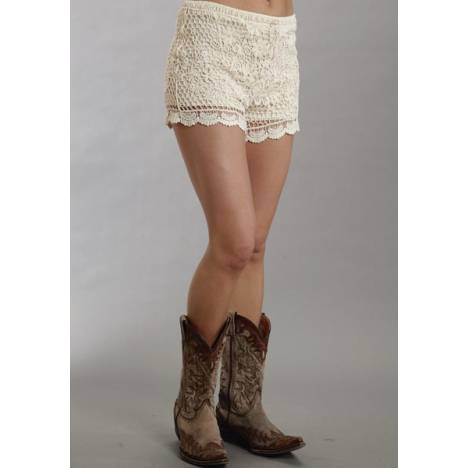 Stetson Ladies Spring III Crochet Lace Boyfriend Fit Shorts