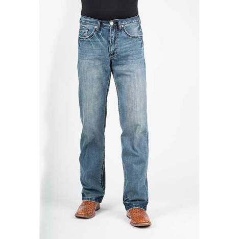 Stetson Mens 1312 Fit Pieced Denim X Deco Back Pocket Jeans