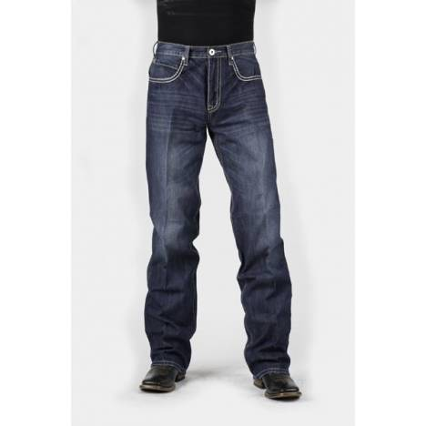 Stetson Mens 1312 Fit X Heavy Stitching Back Pocket Jeans