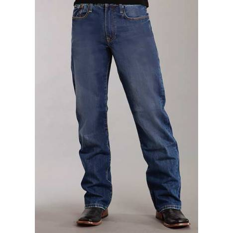 Stetson Mens 1312 Modern Fit Classic Light Wash Denim Jeans